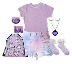 """""""💜"""" by meow-im-dead-inside ❤ liked on Polyvore featuring Cotton Candy and Unicorn Lashes"""