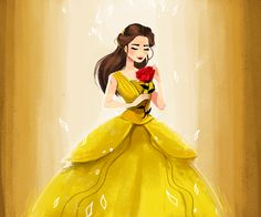 The most beautiful Film I ever seen in my entire life. Fanart of the Emma's Belle First Disney Princess, Disney Belle, Walt Disney Pixar, Disney Magic, Belle Hairstyle, Belle And Beast, Disney Animated Films, Beautiful Film, Disney Beauty And The Beast