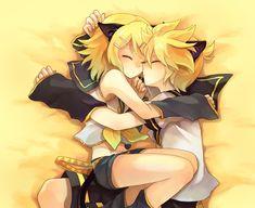 Vocaloid // Kagamine Rin X Len Kitty Cat Sleep Sleeping