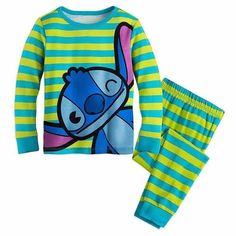 Children Long Sleeve Cartoon Pajamas Set Sleepwear for kids