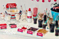 Retro Diner Party Soda Float Party Ice Cream by HelloMySweet