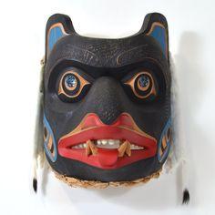 Old Bear Chief - Red Cedar Mask