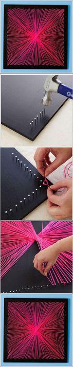 DIY String Art DIY Projects / UsefulDIY.com on imgfave