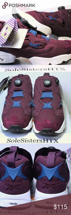 Reebok Scarpe Donna Instapump Fury Knit Maroon 100% Authentic Reebok Scarpe Donna Instapump Fury Heavy Knit Maroon AR2532 