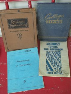 Set of 4 vintage Typewriting books,  3 from WW II and one is much earlier...