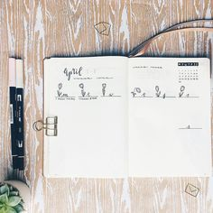 Bullet journal weekly layout, tulip drawings, flower drawings, cursive writing. | @cupofbujo
