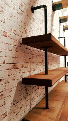 Scaffale autoportante stile industriale Artigianali in legno ...