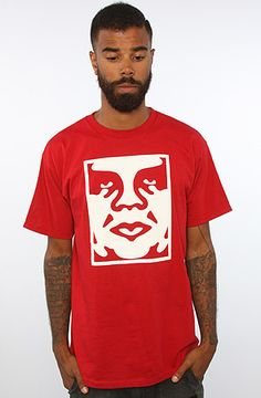 ae9e8607 Obey The Icon Face Standard Issue Basic Tee in Red : Karmaloop.com - Global