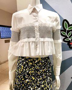 Cedric Charlie Blouse & Skirt #blouses #skirt #whiteshirt #embroidery #ruffle #fabric #print #fabric #belgian #cedriccharlier #casualfashion #fabriclover #style #womensfashion #fashiondesigner #blouse #talent #creative #belgium