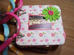 Girls Premade Mini Scrapbook Album Girls Mini by HampshireRose, $30.00