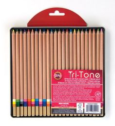 Koh-I-Noor Tri-Tone Pencil Set, Multi-Color, Set of 24
