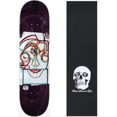 Alien Workshop Skateboard Deck Freak Face Zeni 8.0' (Asst Clrs) Skull Grip, Multi