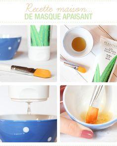 Masque apaisant fait maison à l'aloe vera et au miel - Juliette blog féminin