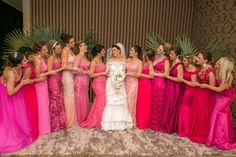 Casamento moderno: madrinhas de cor de rosa - Foto Andress Ribeiro