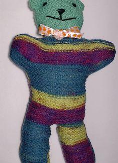 Charity bear made by Blue Light Babies, UK, for yarndale.co.uk Crochet Bear, Fingerless Gloves, Arm Warmers, Charity, Bears, Light Blue, Babies, Creative, Projects