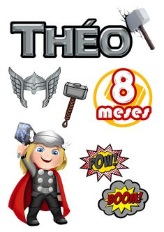 Bolo Thor, Bolo Flash, Minions, Cake Toppers, Avengers, Stamps, Clip Art, Dreams, Party