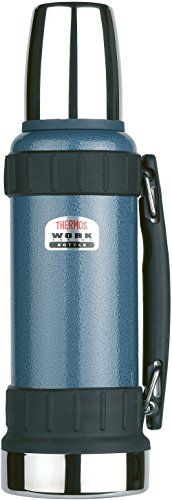 Thermos Work Series Stainless Steel Flask >>> Click for Special Deals #TeaPots