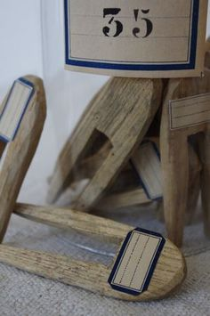 Old French clothespins . .