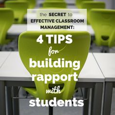Rapport is a relationship in which the student enjoys working productively with the teacher. It is the single most important facet of a successful educator.