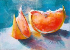 Barbara Newton Art Journal: I love grapefruit, do you?
