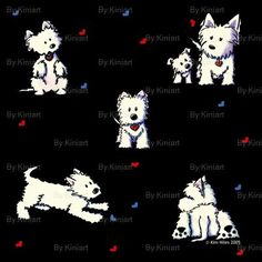This site has a bunch of adorable westie fabric - I need to order some and make a little cuddle quilt for Piper!