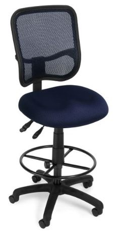 OFM Mesh Comfort Series Ergonomic Task Chair With Arms And Drafting Kit