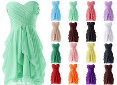 2015 Nouveau Robe de cocktail de bal courte robe de demoiselle d honneur Cute Dresses, Short Dresses, Prom Dresses, Formal Dresses, Wedding Bridesmaid Dresses, Wedding Gowns, Party Dress, Chiffon, Couture
