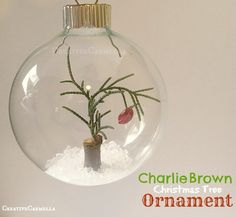 So love this ❤️ Creative Carmella: Charlie Brown Christmas Tree. Charlie Brown Tree, Charlie Brown Christmas Tree, Merry Little Christmas, Diy Christmas Ornaments, Homemade Christmas, Winter Christmas, Christmas Holidays, Christmas Bulbs, Christmas Crafts