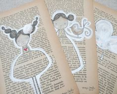 Paint on book pages