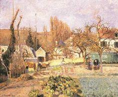 Kitchen Garden at the Hermitage, Pontoise by Camille Pissarro