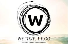 We Travel & Blog unveils its new branding. http://wetravelandblog.com  logo, insignia, w, travel logo, bokeh, ocean, freedom, movement