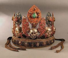 Ritual crown, Tibet