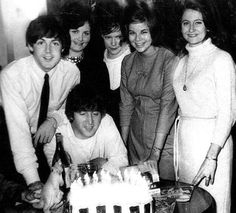 Paul McCartney and John Lennon (John's birthday)