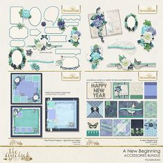 A NEW BEGINNING ACCESSORIES  Bundle from Sherwood Studio is the perfect compliment to her digital scrapbooking kit A NEW BEGINNING.  Embellish to your heart's content!