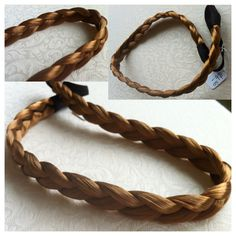 Dark blonde synthetic plaited hair - hairband @ AUD$6.50 + postage or local pick up available.