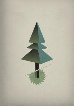 Triangle Tree, Illustration by Michael Paukner Tree Graphic, Graphic Art, Solid Geometry, Platonic Solid, Tree Illustration, 3d Illustrations, Freelance Graphic Design, Graphic Design Inspiration, Cool Artwork