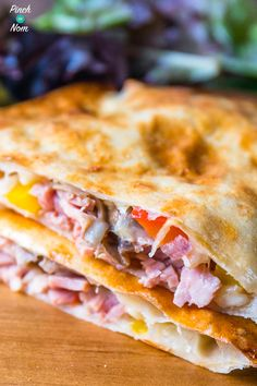 Ham and Mushroom Pizza Calzone - Pinch Of Nom Slimming Recipes Slimming World Pizza, Slimming World Lunch Ideas, Slimming World Free, Slimming World Dinners, Slimming World Recipes Syn Free, Slimming Eats, Syn Free Food, Sw Meals, Mushroom Pizza