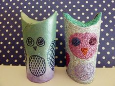 friday craft day: toilet paper roll owls