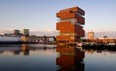 MAS Museum was conceived by Dutch architects Neutelings Riedijk as a series of boxes stacked on top of each other. Photograph by Jeroen Verrecht