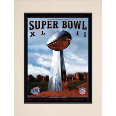 "Fanatics Authentic 2008 Giants vs. Patriots 10.5"" x 14"" Matted Super Bowl XLII Program - $29.99"