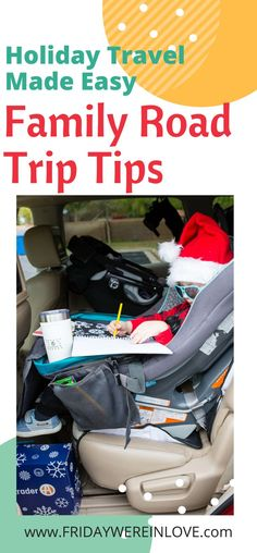 Holiday Travel Made Easy with these 10 family road trip tips and tricks AD Road Trip Packing List, Road Trip Essentials, Road Trip Hacks, Toddler Travel, Travel With Kids, Family Travel, Road Trip With Kids, Family Road Trips, Family Vacations
