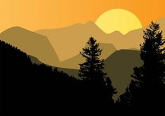 Mountain Silhouette Trees Vector Background - http://www.welovesolo.com/mountain-silhouette-trees-vector-background/