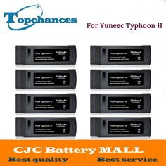 Wholesale 8PCS High Quality 4S Full 5400mAh 14.8V 79.92Wh Replacement LiPo Battery for Yuneec Typhoon H Drone RC Quadcopter #Affiliate