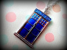 Blue Police Box Necklace Inspired by Dr Who Series by Beadix, $8.99