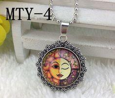 •.¸*♫♪ Sun ~ Winking Moon Necklace •.¸*♫♪