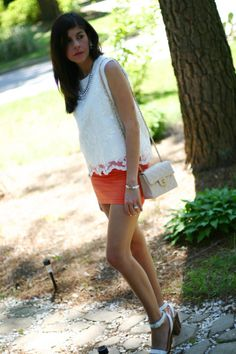 Lace Top frontrowshop zara sandals chanel bag
