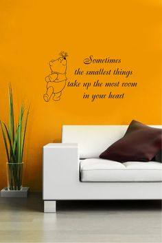 Vinyl Decal Winnie the Pooh Quote Small Thing in Heart Home Wall Art Decor Removable Sticker Mural L344 Unique Design Girl Boy Nursery on Etsy, $24.99