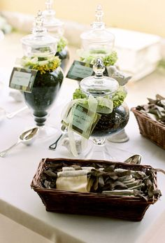 A Coffee Bean Bar is a great idea for a unique wedding or party favor.