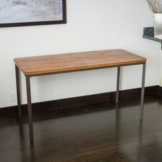 The Ellington Circle table combines rustic and urban elements. Built from hardwood and iron rustic legs, this piece has a sandblast finish, and is built for durability. This piece can be used as table or desk for homes with an urban or rustic décor.