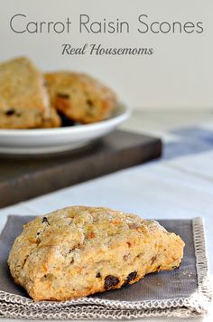 Carrot Raisin Scones | Real Housemoms | #breakfast #scones
